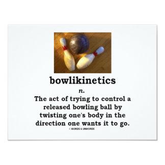 Bowlikinetics - ato do substantivo de torcer seu convites personalizado