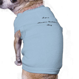 Boy, Biewer Yorkshire Terrier, Camisa Sem Mangas Para Cachorro