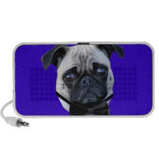 Boy pug doodle speaker