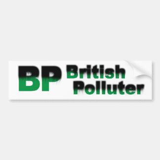 BP: Poluidor britânico Adesivo Para Carro