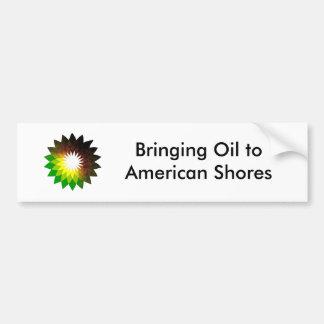 bp, trazendo a óleo costas toAmerican Adesivo Para Carro