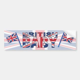 Bqby britânico adesivo para carro