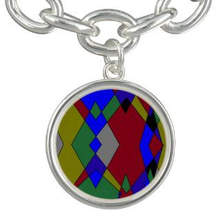 Bracelete Abstrato colorido retro do diamante