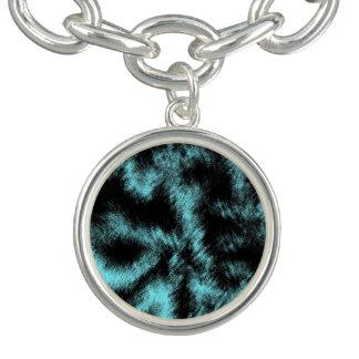 Bracelete Aqua e arte moderna preta