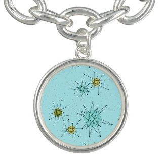 Bracelete atômico azul do encanto de Starbursts do