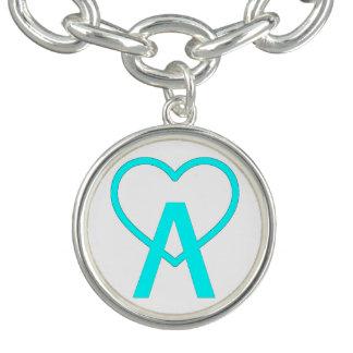 Bracelete azul do encanto de A~Heart do Aqua