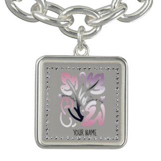 Bracelete bonito de Diamondflower do Auto-Amor da
