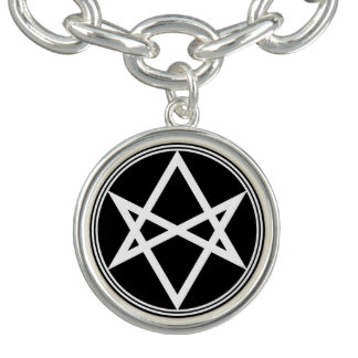 Bracelete Branco Unicursal do Hexagram de Falln