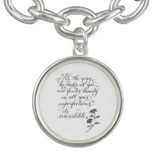 Bracelete Citações românticas irresistíveis do amor da