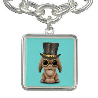 Bracelete Coelho de coelho bonito do bebê de Steampunk