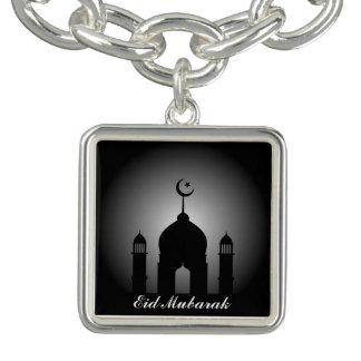 Bracelete Com Pingente Abóbada da mesquita e silhueta do minarete