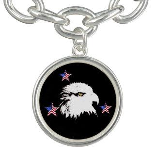 Bracelete Com Pingente Águia americana