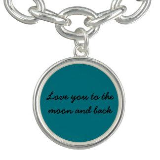 Bracelete Com Pingente Ame-o à lua e ao encanto traseiro