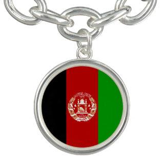 Bracelete Com Pingente Bandeira afegã patriótica