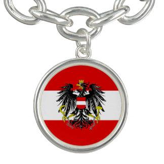 Bracelete Com Pingente Bandeira austríaca