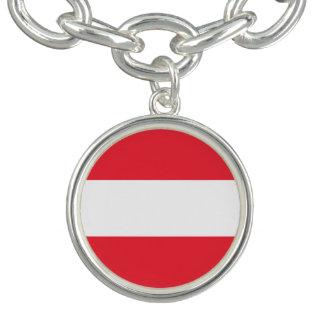 Bracelete Com Pingente Bandeira austríaca patriótica