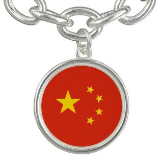 Bracelete Com Pingente Bandeira chinesa patriótica