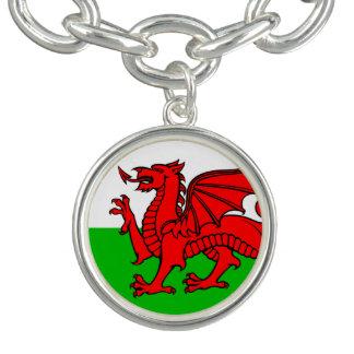 Bracelete Com Pingente Bandeira de Galês