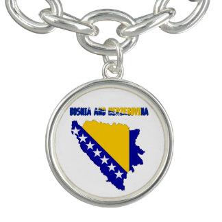 Bracelete Com Pingente Bandeira de país bosniana
