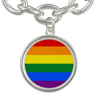 Bracelete Com Pingente Bandeira do arco-íris