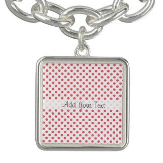 Bracelete Com Pingente Bolinhas cor-de-rosa corais por Shirley Taylor