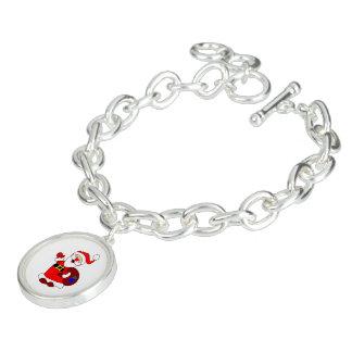 Bracelete Com Pingente Clipart do saco de Papai Noel e de presente