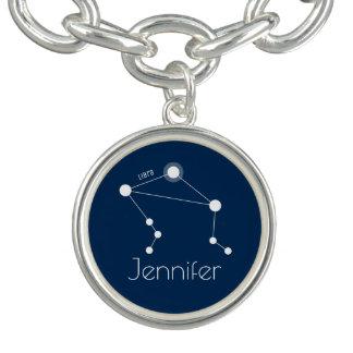 Bracelete Com Pingente Constelação personalizada do zodíaco do Libra
