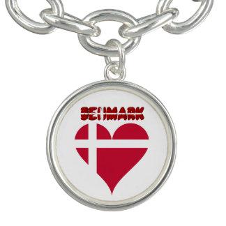 Bracelete Com Pingente Coração dinamarquês