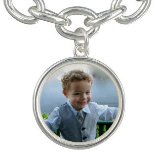 Bracelete Com Pingente Crianças feitas sob encomenda da foto do dia das