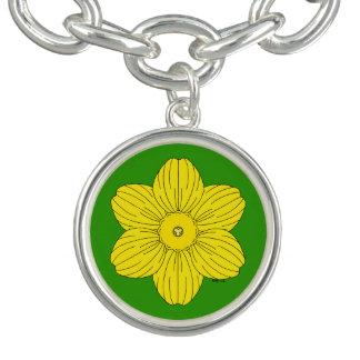 Bracelete Com Pingente Daffodil heráldico