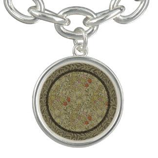 Bracelete Com Pingente Design floral do impressão da arte do salgueiro do