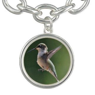 Bracelete Com Pingente Encanto do colibri