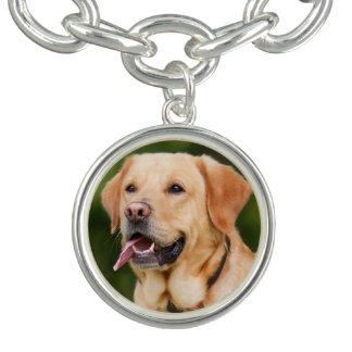 Bracelete Com Pingente Labrador dourado lindo