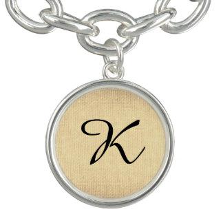 Bracelete Com Pingente Monogramas de duas letras cursive