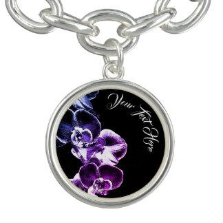 Bracelete Com Pingente Orquídeas personalizadas