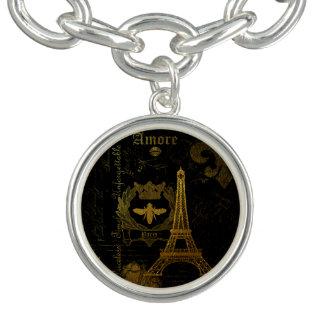 Bracelete Com Pingente Paris: Excursão Eiffel do La