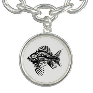 Bracelete Com Pingente Peixes fósseis