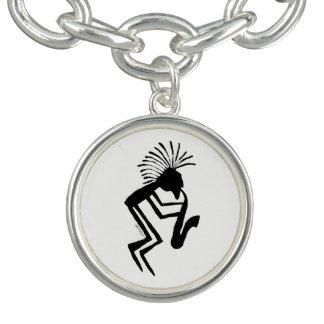 Bracelete Com Pingente Petroglyph do jogador de Kokopelli Saxaphone