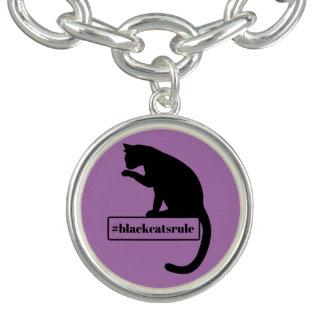 Bracelete Com Pingente Regra dos gatos pretos