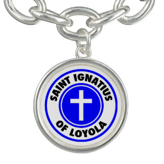 Bracelete Com Pingente Santo Ignatius de Loyola