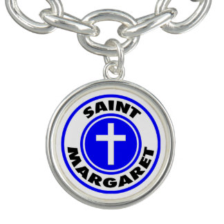 Bracelete Com Pingente Santo Margaret