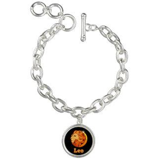 Bracelete Com Pingente Sinal do zodíaco de Leo