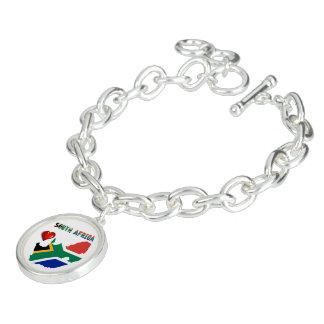 Bracelete Com Pingente Sul - bandeira africana