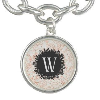 Bracelete Com Pingente Teste padrão sem emenda do esboço cor-de-rosa com