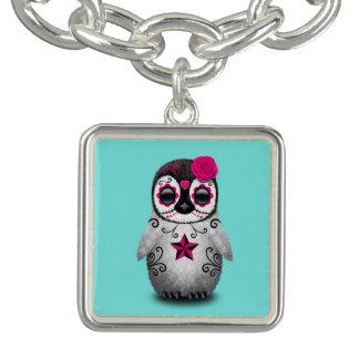 Bracelete Dia cor-de-rosa do pinguim inoperante do bebê
