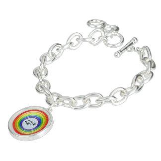 Bracelete do encanto - anéis e Initals do