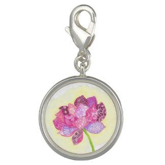 Bracelete do encanto da flor de Lotus