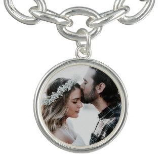 Bracelete do encanto da foto do casal