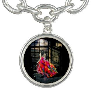 Bracelete do encanto da menina do arco-íris