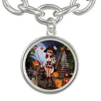 Bracelete do encanto da menina do pirata do Dia